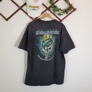 Other - Retro US Army Special Forces Snake Skull Tshirt